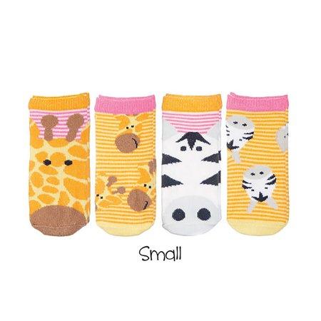 FlapJackKids Sock Safari Giraffe Zebra Pink Baby Socks 8 Socks Size 0-12 - Giraffe Socks