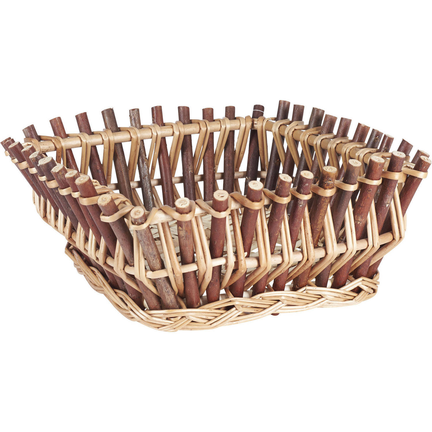 Household Essentials Square Wood Stick Basket
