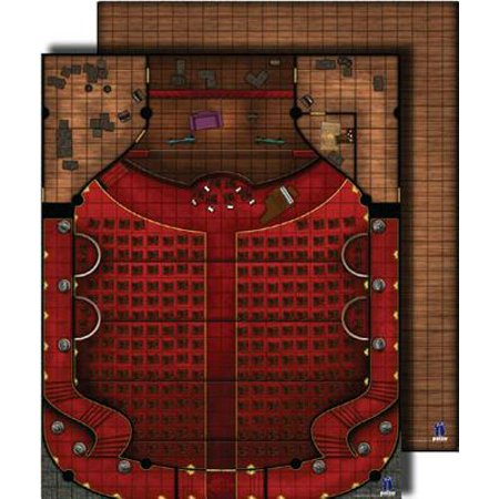 Gamemastery Flip-Mat: Theater (Gamemastery Flip Map)