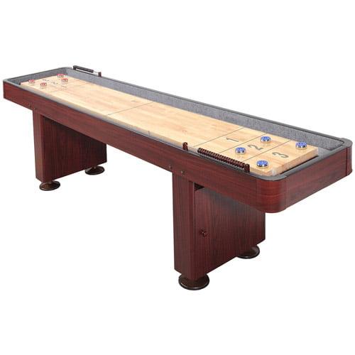 Hathaway 12' Shuffleboard Table, Dark Cherry Finish