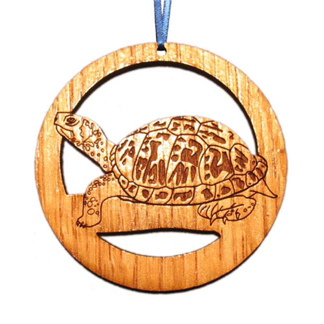 CAMIC designs REP002N Laser-Etched Turtle Ornaments - Set of 6