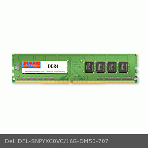 Dell SNPYXC0VC/16G equivalent 16GB DMS Certified Memory DDR4-2400 (PC4-19200) 2048x64 CL17  1.2v 288 Pin DIMM - DMS