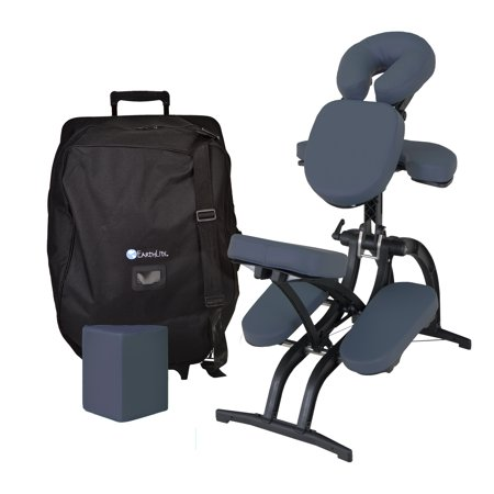 earthlite avila ii portable massage chair package folding tattoo spa massage chair incl carry case with wheels