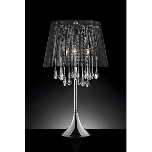 OK Lighting Nightfall Crystal 28'' H Table Lamp with Empire Shade