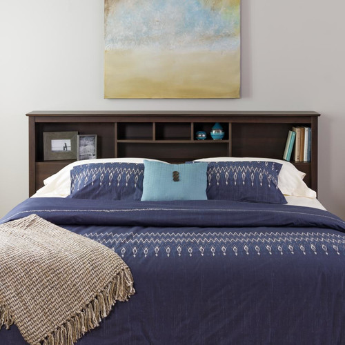 Edenvale Full Queen Storage Headboard, Espresso Prepac Furniture by Prepac