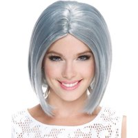 Frosted Midi Bob Wig Adult Halloween Accessory