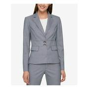 TOMMY HILFIGER Womens Blue Collared Blazer Wear To Work Jacket  Size: 4