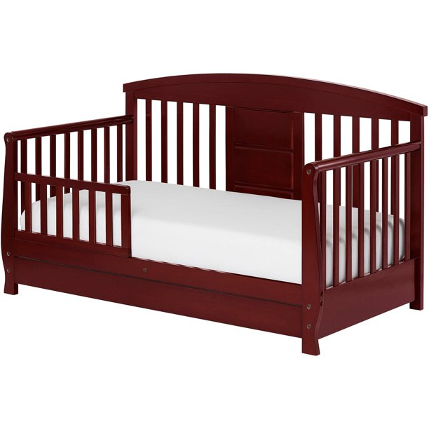 Dream On Me Deluxe Toddler Day Bed with Storage, Cherry ...