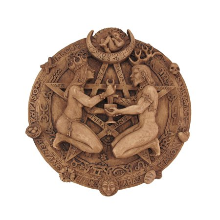 Wood Finish Great Rite Pentacle Wall Plaque Pagan - Walmart.com