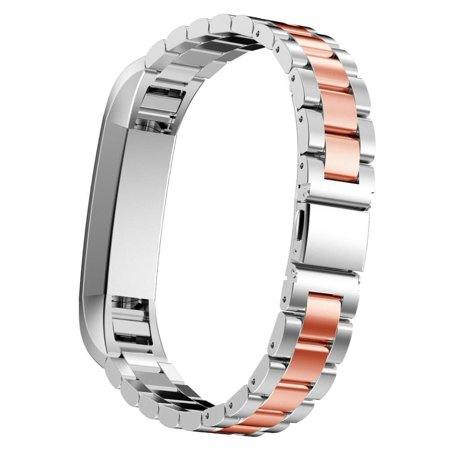 Fitbit Alta Bands Metal Special Edition Fitbit Alta HR Stainless Steel Bands Adjustable Replacement Accessory Wristband Small Large for Alta Bracelet Women Men Girls - Rose (Fitbit Alta Hr Special Edition Black Gunmetal Large)