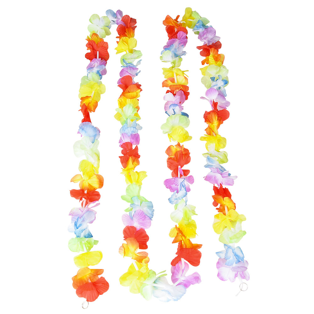 "Rinco Jumbo Flower Lei Luau Beach Decoration 108"" Garland, Multicolor"
