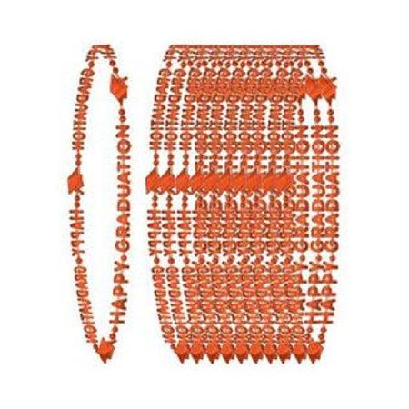 Happy Graduation Orange Bead - Orange Beaded Necklace