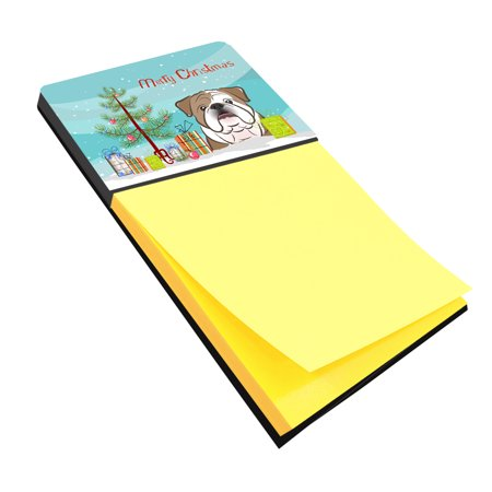 Christmas Tree and English Bulldog  Sticky Note Holder BB1591SN
