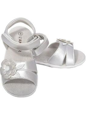 d56a9d20d35bb0 L Amour Silver Flower Sandals Shoes Baby Girls 4-Toddler Girls 10