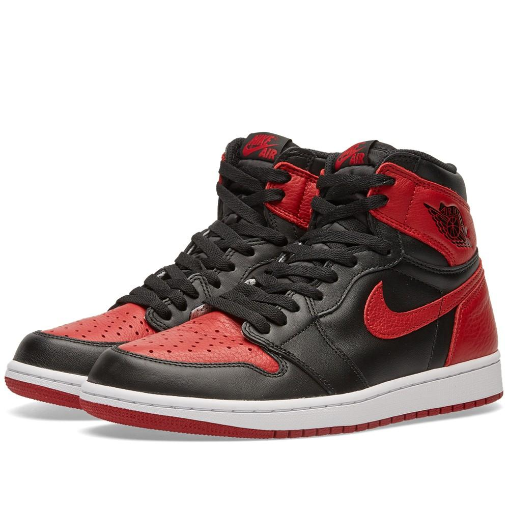 Nike 1 RETRO HIGH OG 'BRED' - 555088-023