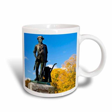 3dRose Minuteman statue, Concord, Massachusetts, USA - US22 BJN0032 - Brian Jannsen - Ceramic Mug, 11-ounce