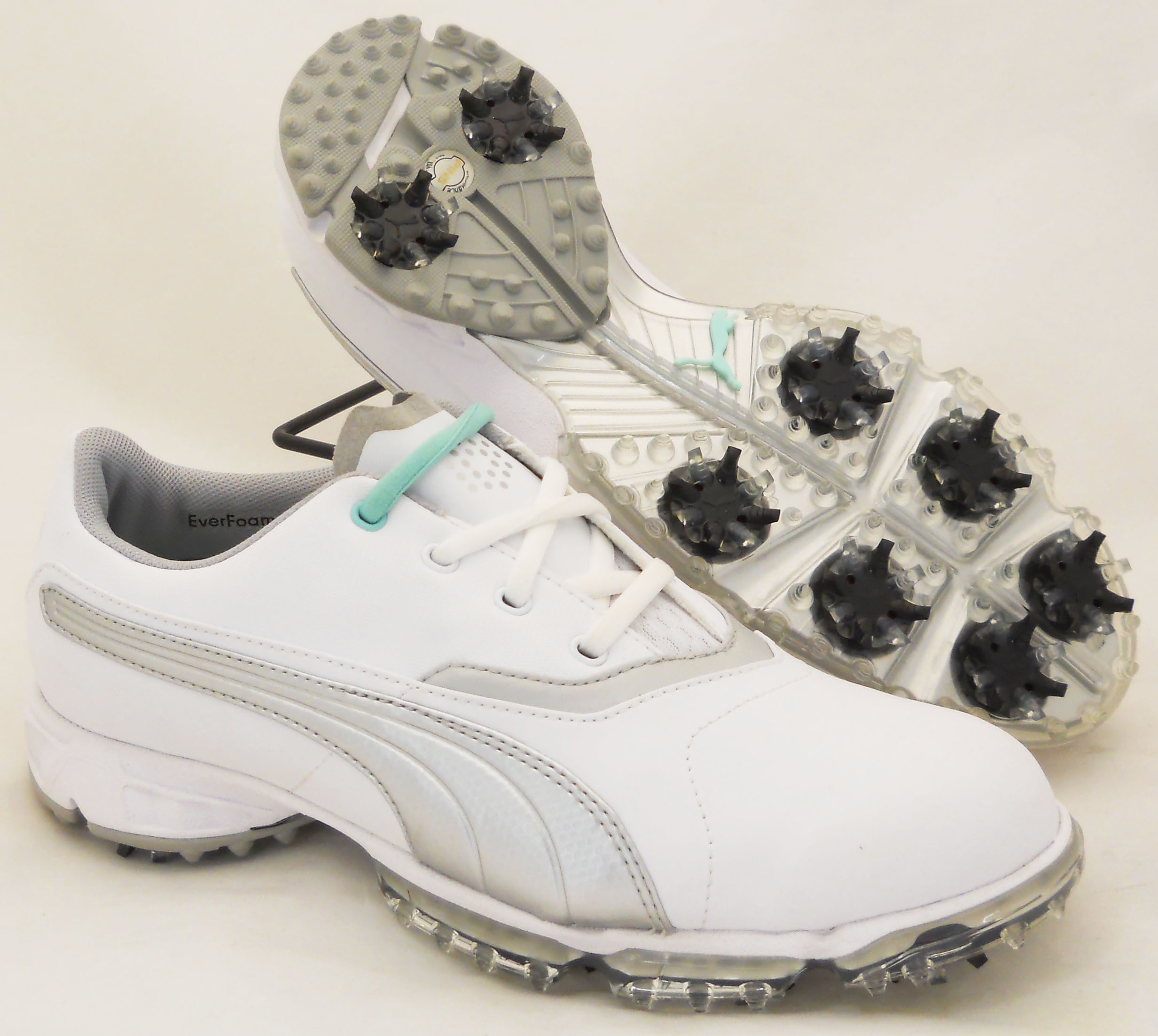 NEW Womens Puma BIOPRO - Golf Shoes White/Silver Metallic - BIOPRO Choose Size! 52e5e6
