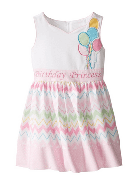 b0d814234e Product Image Bonnie Jean Baby Girls Princess Balloons Bow Birthday Pink  Dress 24 Months