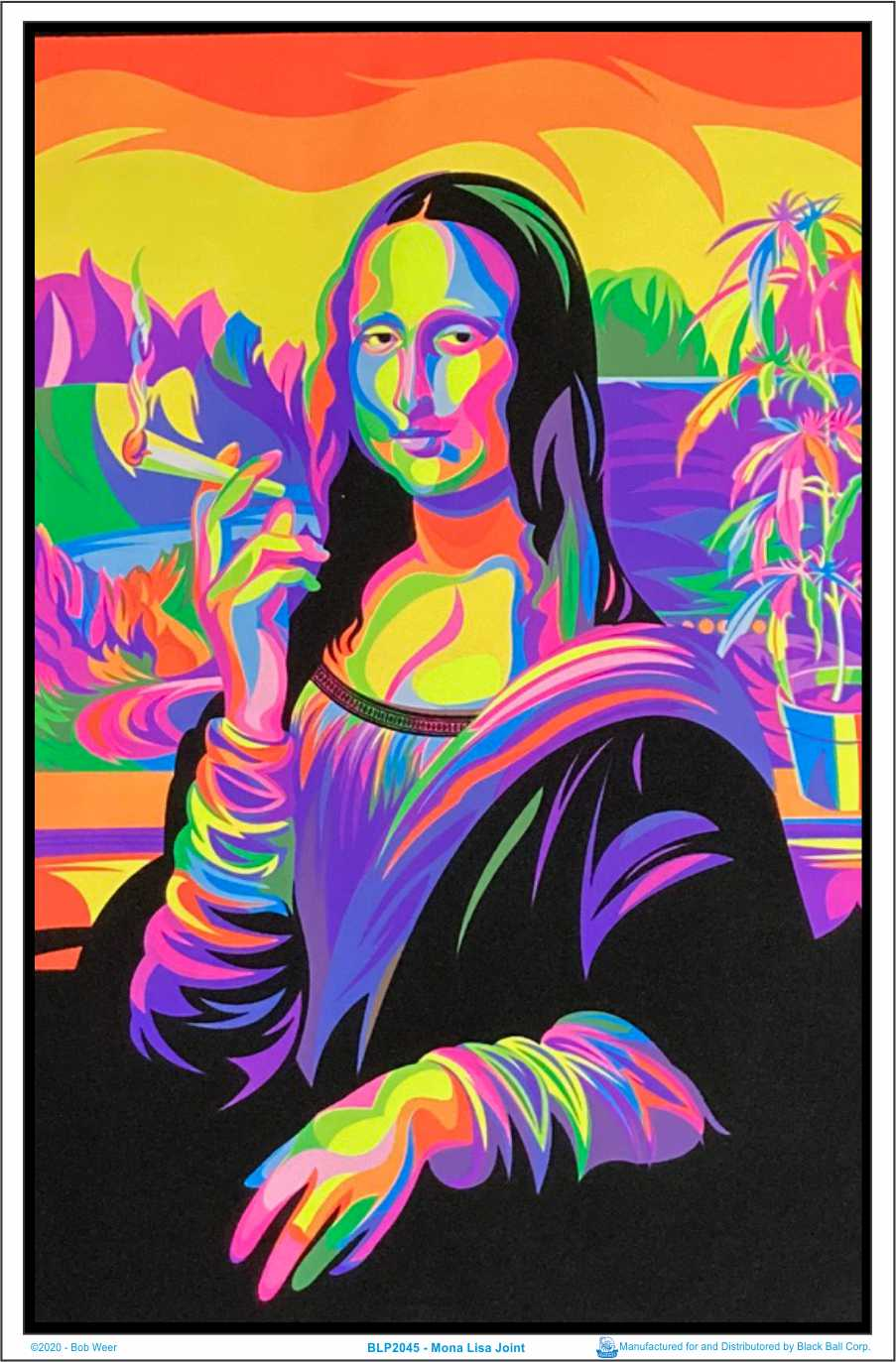 """Have A Nice Trip Laminated Blacklight Poster 23.5/"""" x 35.5/"""""""