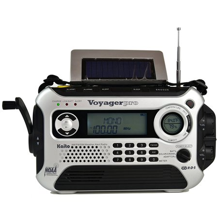 Kaito Ka600l Solar Crank Noaa Weather Radio With Am Fm Shortwave   Silver