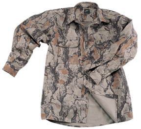 Natural Gear Bush Shirt Natural Camo Medium