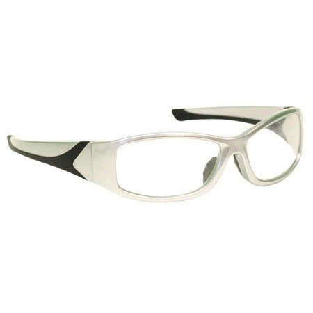 - Laser Safety Eyewear - Co2/Excimer Filter In Silver Plastic Wrap-Around Frame Style.