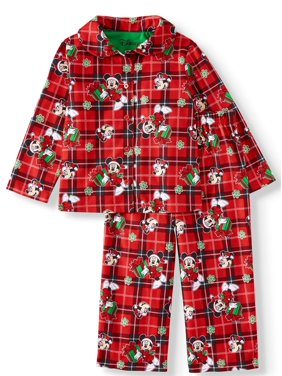 Minnie Mouse Toddler Girl Long Sleeve Nightgown Pajamas, 2pc Set