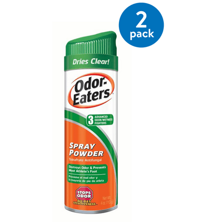 Foot Gloves Shoes - (2 Pack) Odor-Eaters Deodorant Foot Spray, Eliminates Odor, Anti-fungal, 4 oz.