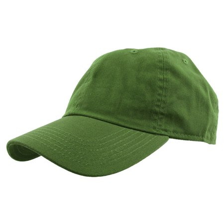 Falari Baseball Cap Hat 100% Cotton Adjustable Size Forest Green