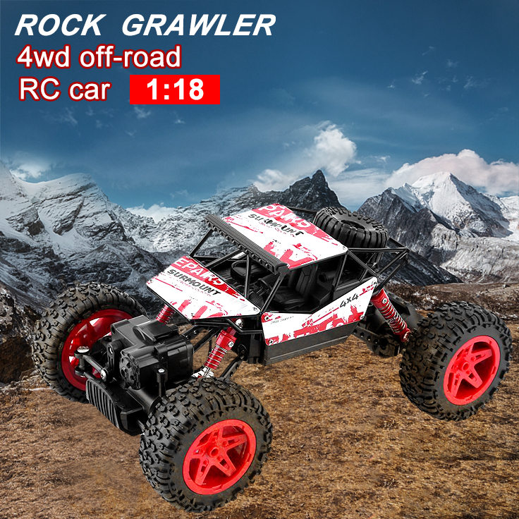 Rock Crawler Remote Control RC, Rock Climber RC Truck, Remote Control Rock Climber, Electric Rock Crawler RC Car Suitable For 1-18 Scale Off-Road RC Rock Crawler 4x4