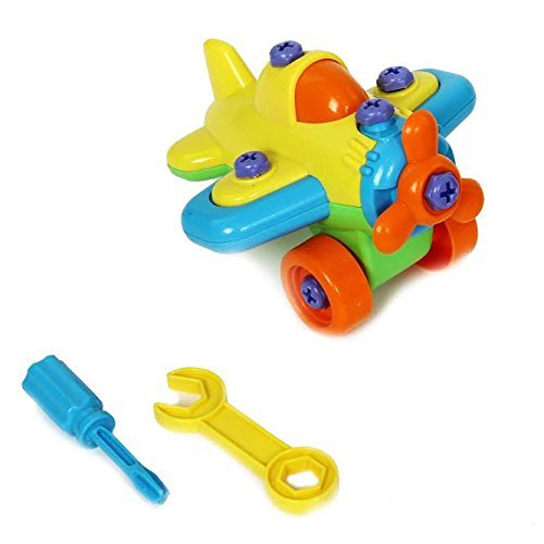 Christmas Gift | Dazzling Toys Construct a Vehicle Set Including Take-Apart and Assemble Airplane and Tools.