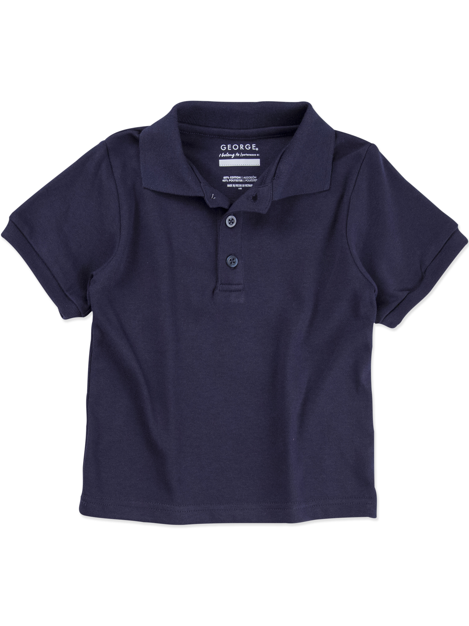 Toddler Boy or Girl Unisex School Uniform Short Sleeve Polo Shirt