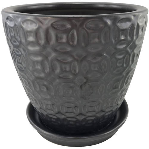 """Better Homes and Gardens 8"""" Planter, Black by HK YIBO CERAMICS LIMITED"""