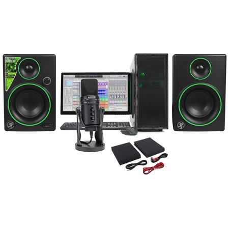 - SAMSON G-Track Pro Studio USB Condenser Microphone+Interface+(2) Mackie Monitors