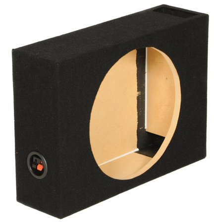 QPower SHALLOW110 Single 10 Inch Vented Shallow Subwoofer Sub Box Enclosure ()