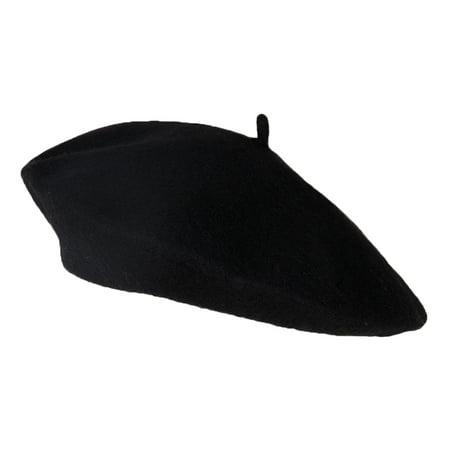 Wool Blend Fashion French Beret  Black