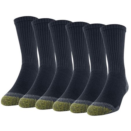Gold Toe Men's Full Cushion Cotton Crew Socks, 6 Pairs