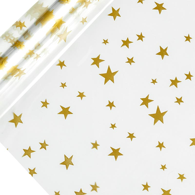 "Stars Gold Cello Film 40"" X 100' by Paper Mart"
