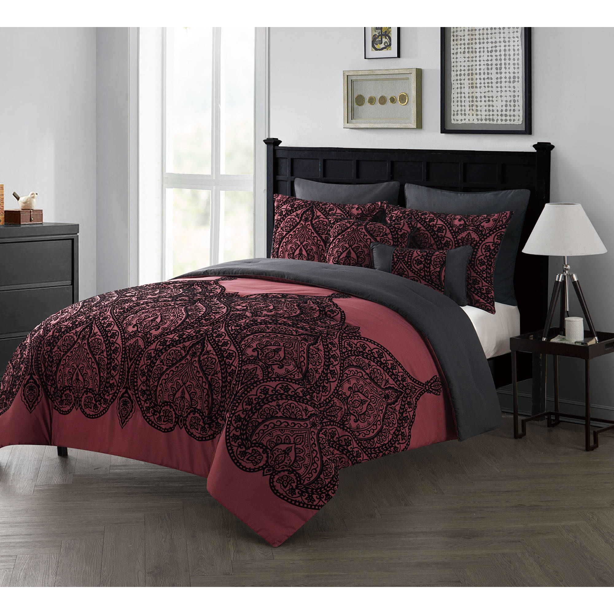 of sale by reversible piece bedding cotton floral cover shades quilt medallion white beige paisley covers gray in duvet home pattern walmart tahari tan king set