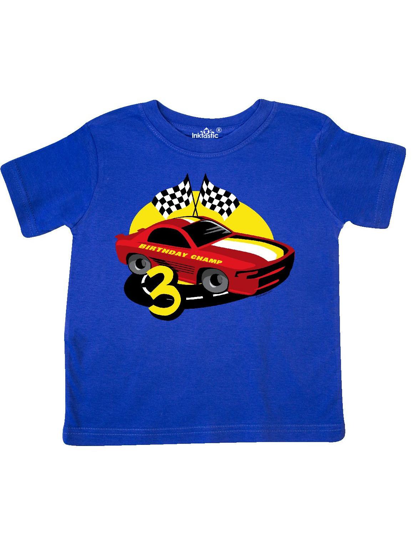 Race Car 3rd Birthday Toddler T-Shirt