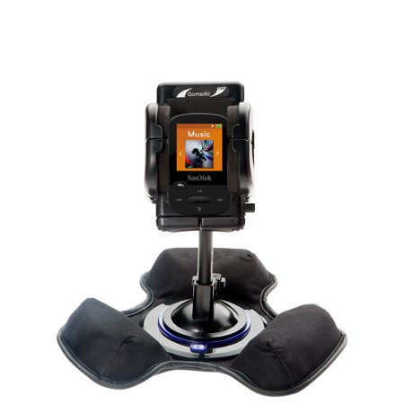 Sansa C100 Series - Car / Truck Vehicle Holder Mounting System for Sandisk Clip Sport Includes Unique Flexible Windshield Suction and Universal Dashboard Mount Options