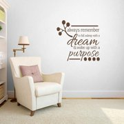 Sweetums Wake up with a Purpose' Bedroom Wall Decal (3' x 2'10)