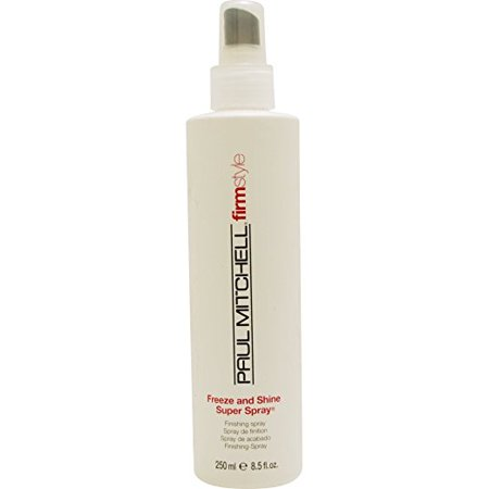 Paul Mitchell Freeze and Shine Super Spray Firm Hold Finishing Spray for Unisex, 8.5 (Freeze Super Hold Spray)