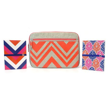 Studio C 3pc Chevron&On Laptop Sleeve/Prepped for Anything Ideal
