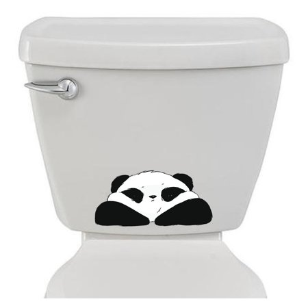 Funny Bathroom toilet sticker Fat Panda decoration design