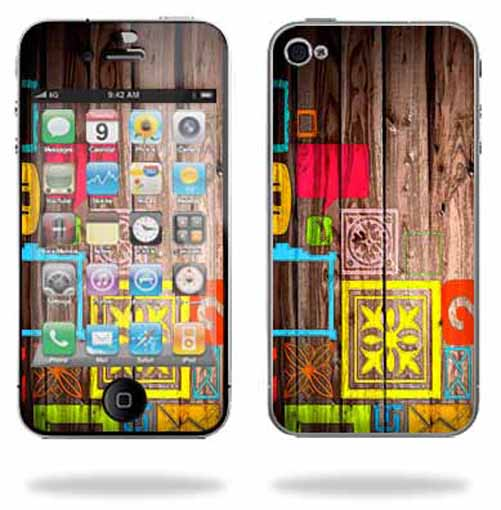 Mightyskins Protective Vinyl Skin Decal Cover for Apple iPhone 4 or iPhone 4S AT&T or Verizon 16GB 32GB Cell Phone wrap sticker skins – Cherry Wood