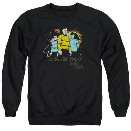 Star Trek Tv Series Kirk Spock   Mccoy Rollin Deep Funny Adult Crew Sweatshirt
