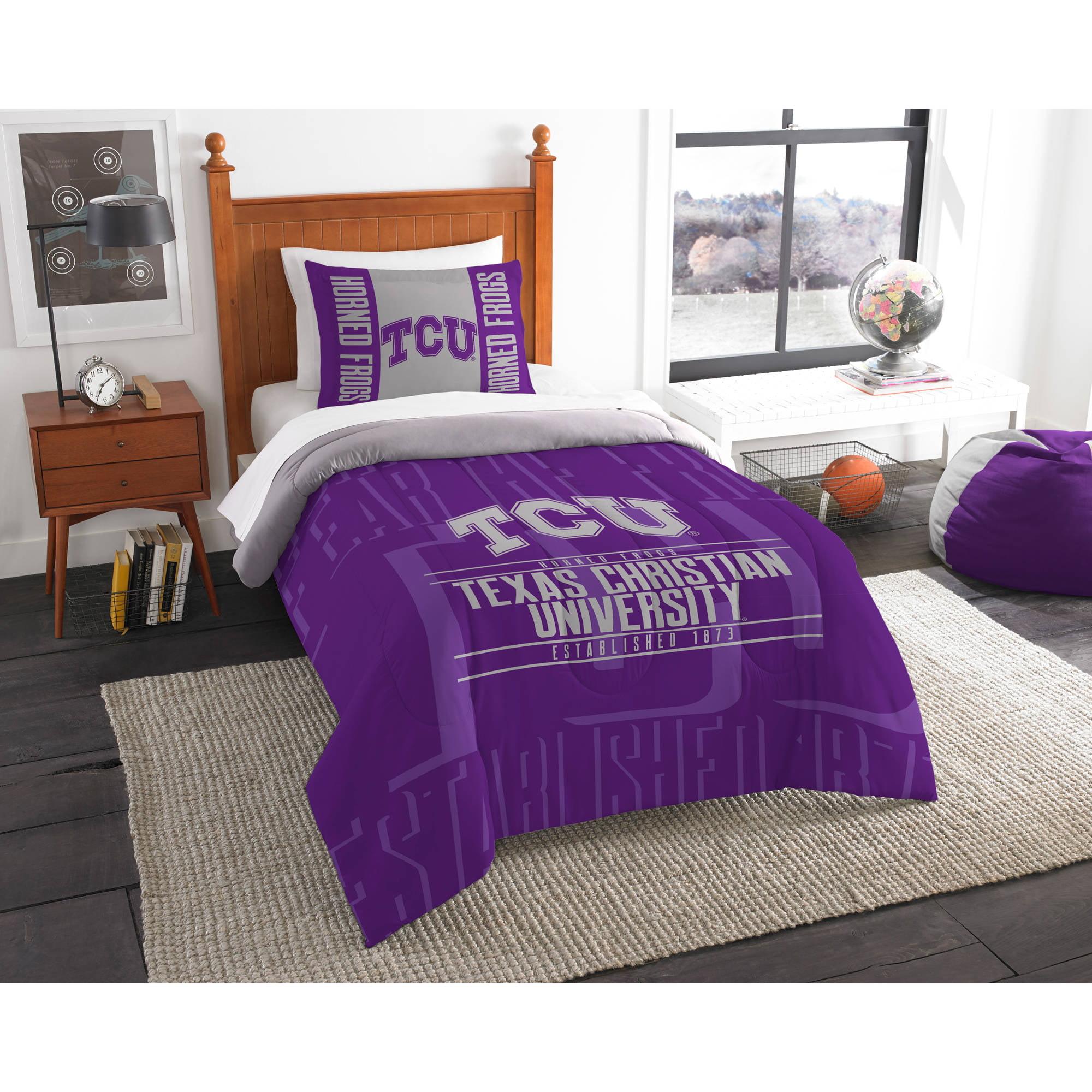 "NCAA TCU Horned Frogs ""Modern Take"" Bedding Comforter Set"