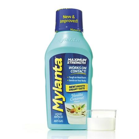 Mylanta Maximum Strength, Vanilla Caramel Flavor, 12 Oz