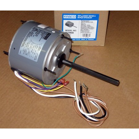 D7908 Fasco 1/3 HP 1075 RPM AC Air Conditioner Condenser Fan Motor TENV Extend the life of your unit by using the Fasco D7908 Air Conditioner Condenser Fan Motor. You can use this item to replace your current part once it has run its full life cycle. This AC fan motor is designed to be compatible with several models. Keeping this piece new and in top working condition will help to keep your machine doing its job day in and day out. This will make a convenient addition to the rest of your air conditioner accessories and parts. The TENV piece has 1/3 HP and operates at 1,075 RPM. Use the Fasco D7908 Air Conditioner Condenser Fan Motor to keep enjoying cool air.